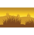 Silhouettes of grass vector image