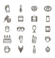 beer alcohol drink thin line icon set vector image