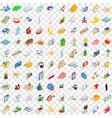 100 piggybank icons set isometric 3d style vector image vector image