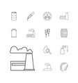 13 oil icons vector image vector image