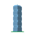 a modern high-rise building on a white background vector image