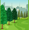 a nature park scene vector image vector image