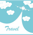 airplane with white ribbon vector image vector image