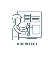 architect line icon architect outline vector image vector image