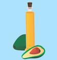 avocado ingredients for healthy lifestyle vector image vector image