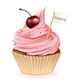 Bakery Cupcake vector image vector image