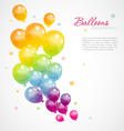 balloons color vector image vector image