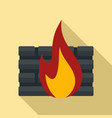 black firewall icon flat style vector image vector image
