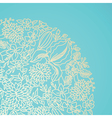 Blue ornamental card vector image vector image