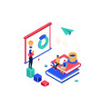 business coaching - modern colorful isometric vector image vector image
