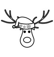 christmas deer design vector image