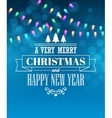Christmas light tipography poster vector image vector image