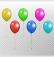 color balloon collection party baloon with vector image vector image