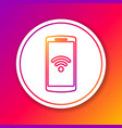 color smartphone with free wi-fi wireless vector image vector image