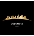 Columbus Ohio city skyline silhouette vector image vector image