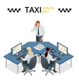 concept of taxi service technical car vector image vector image