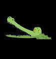crocodile in water alligator in river water vector image vector image