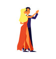 dancing couple man and woman characters flat vector image vector image