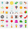 delivery icons set cartoon style vector image vector image