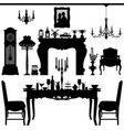 dining area traditional old antique furniture vector image vector image
