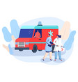 doctor and nurse at ambulance car first aid vector image vector image