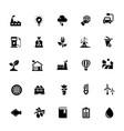 eco glyph icon collection vector image vector image
