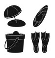 equipment and swimming vector image