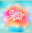 event invitation with the words save the date vector image vector image