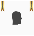 Face flat icon vector image vector image