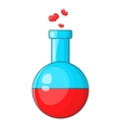 Flask with love fluid icon cartoon style vector image vector image
