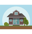 flat style house icon vector image vector image