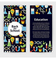 Flyer Template of Flat design Back to School vector image
