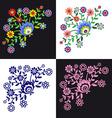 Folk Pattern Flowers-2 vector image vector image