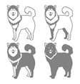 Four Different Silhouettes of dogs vector image vector image