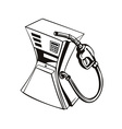 Fuel Pump Station Nozzle Retro vector image vector image