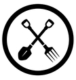 garden icon with tools vector image vector image