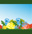 glade with flower vector image vector image