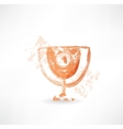 goblet grunge icon vector image vector image