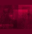 grunge cartoon spotted halftones red purple modern vector image vector image
