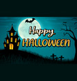 happy halloween background design vector image
