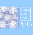 happy new year 2019 christmas banner with vector image