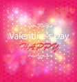 Happy Valentines Day Card Design Ornamental heart vector image