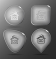 Home Glass buttons vector image vector image