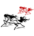 horse tattoos vector image vector image