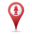 hydrant location icon vector image vector image