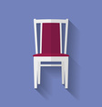 Icon of Chair Flat style vector image vector image
