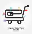 infographics online shopping design diagram vector image vector image