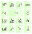 level icons vector image vector image