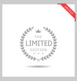 limited edition icon vector image vector image