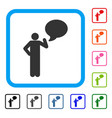 man idea balloon framed icon vector image vector image